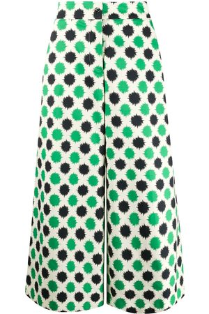 La DoubleJ Printed wide leg trousers