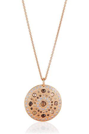 De Beers Senhora Colares - 18kt rose gold Talisman Large Medal diamond pendant necklace