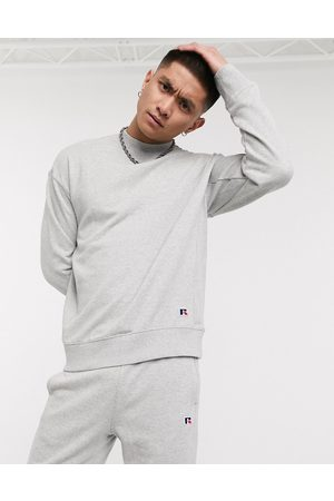 Russell Athletic Frank sweatshirt with small logo in grey