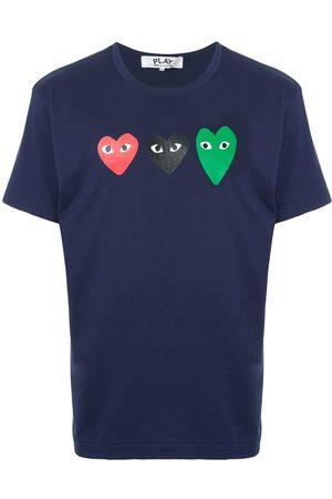Comme des Garçons Triple logo print T-shirt