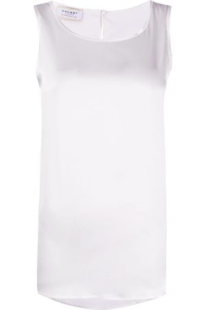 SNOBBY SHEEP Silk scoop neck vest