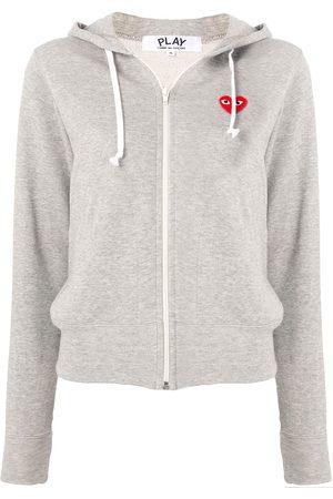 Comme des Garçons Logo-print zipped hoodie