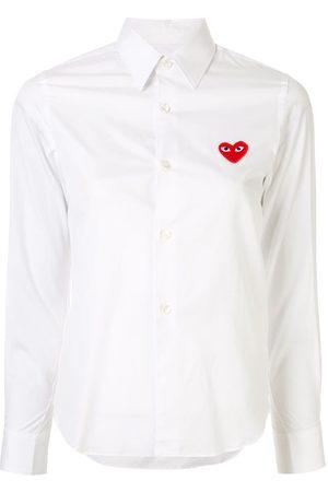 Comme des Garçons Heart logo cotton shirt