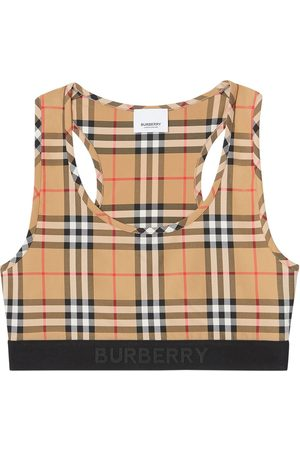 Burberry Vintage Check sports bra