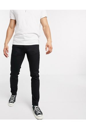 Levi's Youth 512 slim tapered fit lo-ball jeans in stylo advanced stretch black