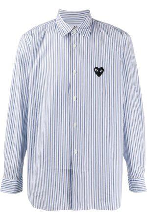 Comme des Garçons Striped crinkled effect shirt