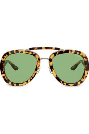 Miu Miu Tortoiseshell aviator sunglasses