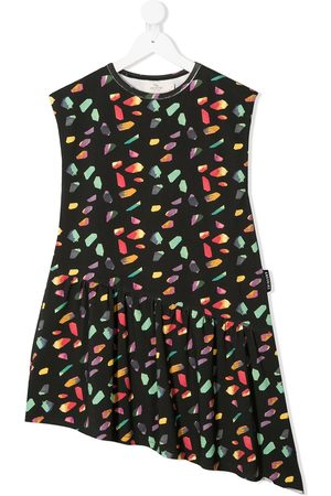 Andorine Geometric-print asymmetric dress