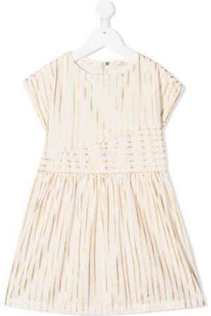 Andorine Striped cotton midi dress