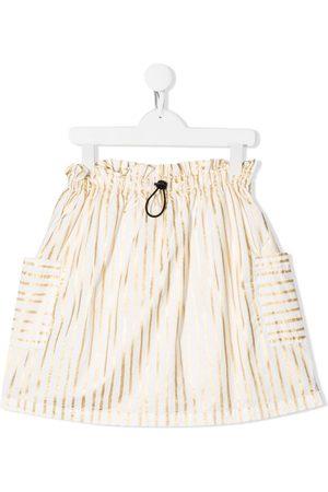 Le pandorine Striped pull-on skirt
