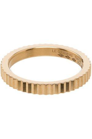 Le Gramme Homem Anéis - 18kt single Guilloche ring