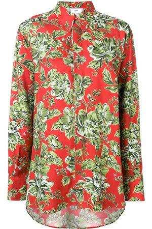 Ami Paris Long Flower Printed Shirt