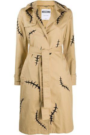 Moschino Scar-print trench coat