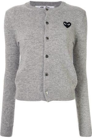 Comme des Garçons Logo embroidered buttoned cardigan