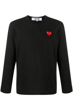 Comme des Garçons Long sleeve heart patch T-shirt