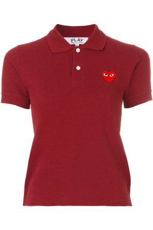 Comme Des Garçons Play Logo embroidered cropped polo shirt