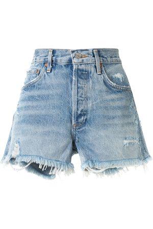 AGOLDE Mulher Calções - Swap Meet distressed shorts