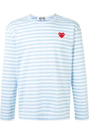 Comme Des Garçons Play Striped long sleeve top