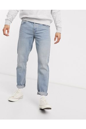 ASOS Tapered jeans with dusty tint-Blue