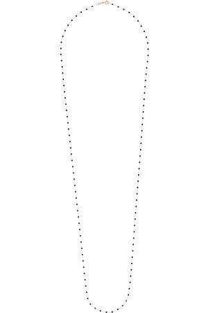 GIGI CLOZEAU 18kt rose gold 86cm beaded necklace