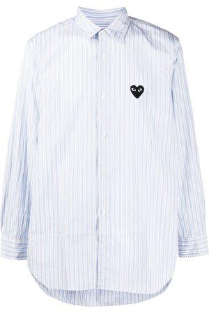 Comme Des Garçons Play Homem Formal - Striped heart-logo shirt
