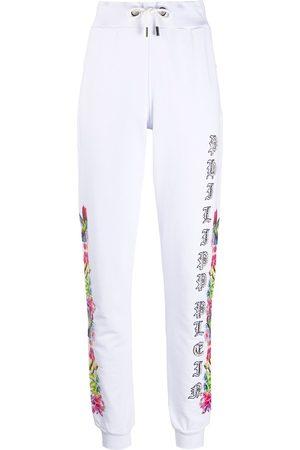 Philipp Plein Jogging Trousers Flowers