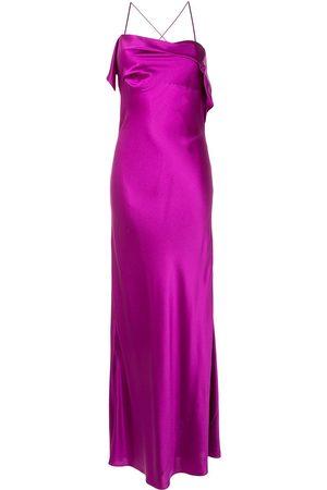 Michelle Mason Senhora Vestidos de Festa - Draped-neck cocktail dress