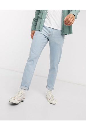 ASOS Tapered jeans in light wash-Blue