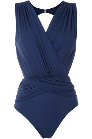 Brigitte Lumma draped swimsuit