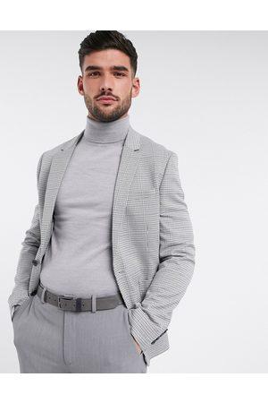 ASOS Super skinny blazer in white micro check