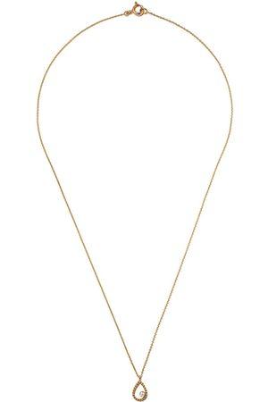 AS29 18kt yellow Mye pear beading diamond necklace