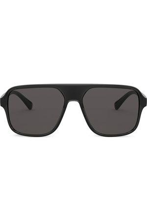 Dolce & Gabbana Logo-embossed square-frame sunglasses