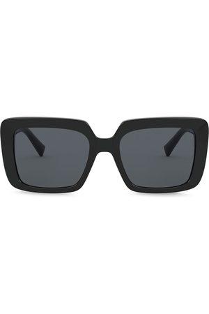 VERSACE Bejewelled oversized-frame sunglasses