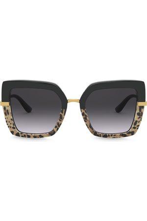 Dolce & Gabbana Eyewear Half Print oversized square-frame sunglasses