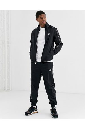 Nike Woven tracksuit set in black