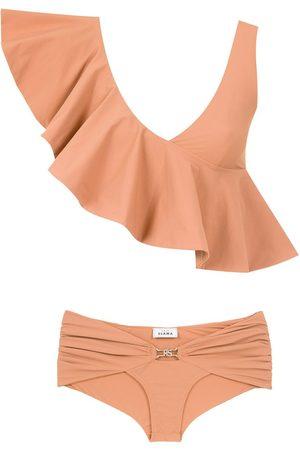 AMIR SLAMA Senhora Bikinis - Ruffled top bikini set