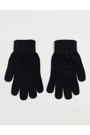 ASOS Touch screen gloves in recycled polyester in black