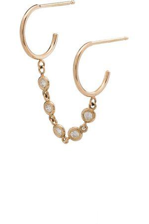Zoë Chicco Senhora Brincos - 14kt gold diamond double-hoop earring