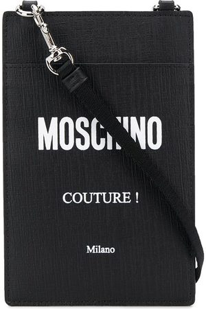 Moschino Strap logo card holder