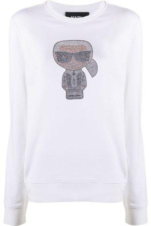 Karl Lagerfeld Senhora Camisolas sem capuz - Ikonik Karl rhinestone sweatshirt