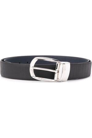 Ermenegildo Zegna Textured oval-buckle belt