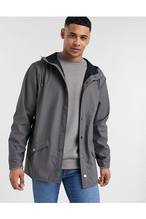 Rains Lightweight hooded jacket in charcoal-Grey