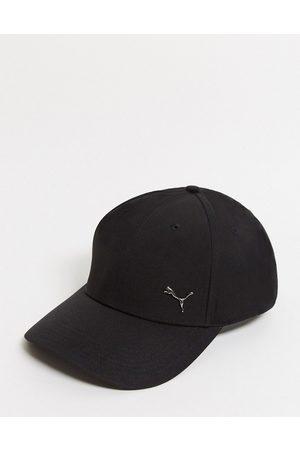Puma Metal cat logo cap in black