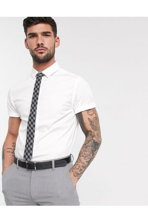 ASOS Stretch skinny fit shirt in white
