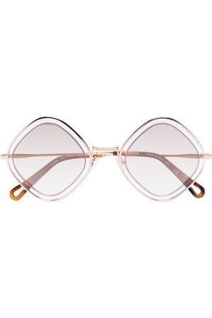 Chloé Poppy diamond-frame sunglasses