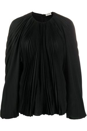 Saint Laurent Balloon sleeve pleated blouse