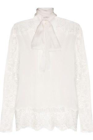 FAITH CONNEXION Lace detail pussy bow blouse