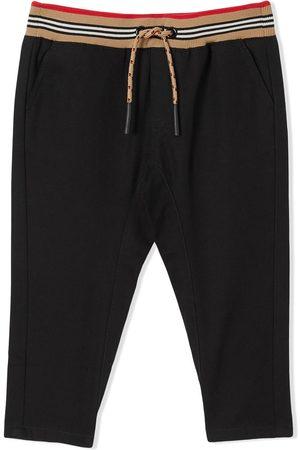 Burberry Bebé Calças - Icon Stripe drawstring trousers