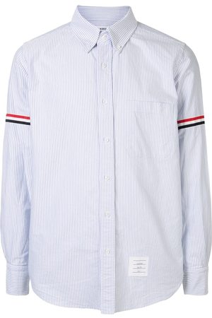Thom Browne LIGHT UNIVERSITY STRIPE GROSGRAIN ARMBAND OXFORD