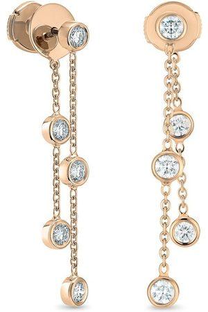 De Beers 18kt rose Clea Five diamond earrings
